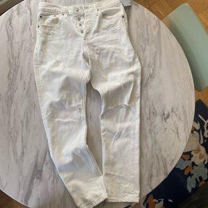 Levi's x free people white distressed 501 jeans